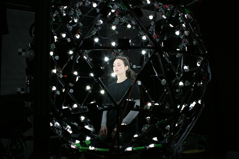 Woman using Light Stage