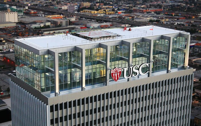 Aerial photo of USC Tower