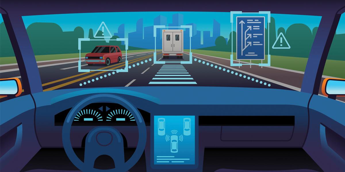 Autonomous driving screenshot