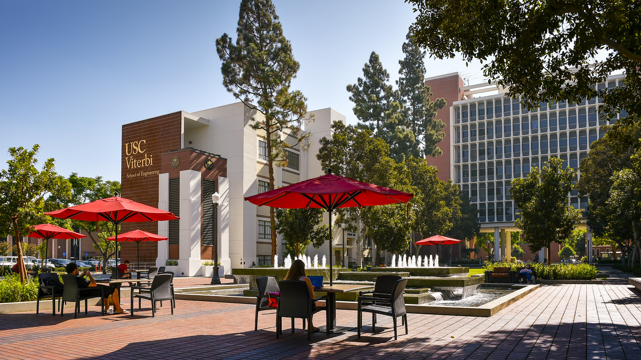 Archimedes Plaza on USC campus